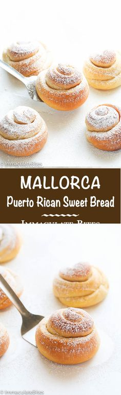 Mallorca Bread- Homemade Sweet  Puerto Rican Bread Rolls.  Soft, Fluffy and Buttery