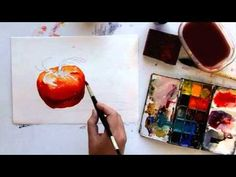 Watercolor Demo - Painting a Tomato