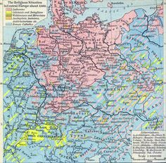 Map of the Religious Situation in Central Europe about 1560