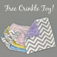 Bebe Bella Designs is offering a free crinkle toy! (Shipping is around $4)  Use the coupon code crinkletoy at checkout.  http://shrsl.com/?~...
