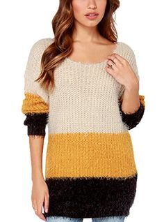 Oure women Fall Winter Cute Sweater Long Sleeve Crewneck Pullover Sweater Top Striped Knit Sweater Stripes xxs Oure http://www.amazon.com/dp/B0179IGFG8/ref=cm_sw_r_pi_dp_MfEmwb02S6APT