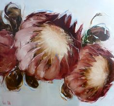 Nicole Pletts Fine Arts I love the detail Nicole puts into her artwork. Rose Oil Painting, Watercolour Painting, Protea Art, South African Artists, Impressionism Art, Contemporary Sculpture, Art Graphique, Beautiful Drawings, Abstract Flowers