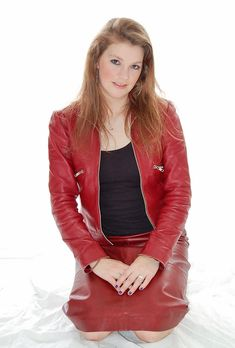 dert5dhbsergthu5j6di78z (1) | Leather Girls Next Door | Flickr Red Leather, Leather Jacket, Girl Next Door, People, Jackets, Photography, Fashion, Studded Leather Jacket, Down Jackets