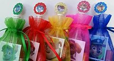 12 Paw Patrol Birthday Party Favor Goody Bags Gift Box Treat Loot Candy Stickers…