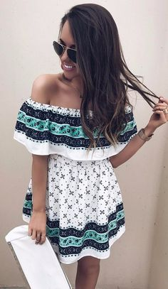 summer style obsession off the shoulder dress