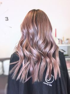 #rose-hair #violet-rose #wavy-hair #cold-rose #hollywoodlook #curls #waves #haircolor #jbeverlyhills #1concept #yourbeautymasters