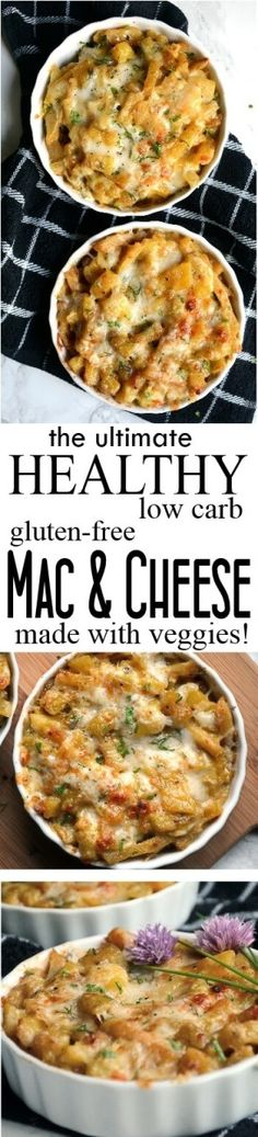 Healthy Mac and Cheese with Veggies - low carb