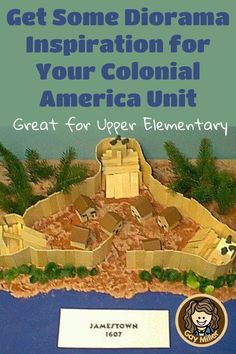Get some inspiration before creating your Colonial America dioramas including Jamestown, Plimoth Plantation, a Colonial kitchen, and Southern Plantation. Colonial America Unit, Build A Fort, Ship Names, Colonial Kitchen, Southern Plantations, The Settlers, History Projects, Best Sites, Upper Elementary