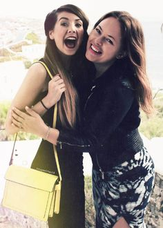 Zoella and Tanya Burr, they are so cute! I love their videos I am a big fan please Like
