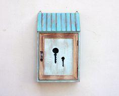 Wooden key box Holder wardrobe  Key cabinet Key by MyHouseOfDreams
