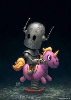 Homepage for illustrator Matt Dixon. Creator of the Transmissions series of robot artwork. Arte Robot, Robot Art, Robots Drawing, Art Drawings, Bd Art, Belle Photo, Cover Art, Fantasy Art, Chibi