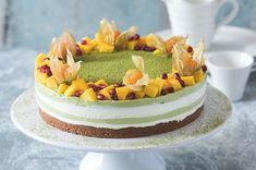 Matcha cheesecake | Apetitonline.cz Cheesecake, Matcha, Food And Drink, Birthday Cake, Cheesecakes, Birthday Cakes, Cherry Cheesecake Shooters, Cake Birthday