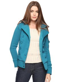 Double Breasted Hooded Jacket | FOREVER21 - 2002928781
