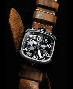 CT Scuderia Scrambler Chronograph Black & Tan