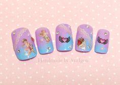 Pastel fake nails deco nails kawaii angel egl fairy kei by Aya1gou, $17.50