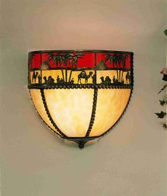 """12"""" Wide Camel Wall Sconce"""