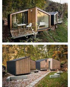 "4,172 Likes, 26 Comments - Prefab & Small Homes (@prefabnsmallhomes) on Instagram: ""EkoKoncept mini for-4, #Bled #Slovenia by Architects Tomaž Noč and Katarina Arsekić #interiors…"""
