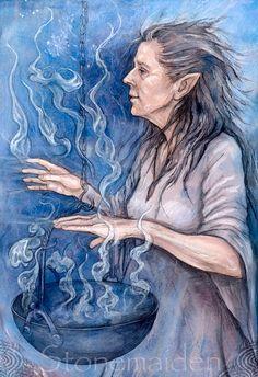 Stonemaiden – artwork by Julia Helen Jeffrey ~ portrait of my mother, we thinks …
