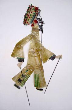 Chinese Donkeyskin Shadow Puppet (Man).  SOLD