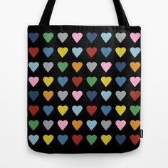#hearts #heart #love #rainbow #color #black #projectm