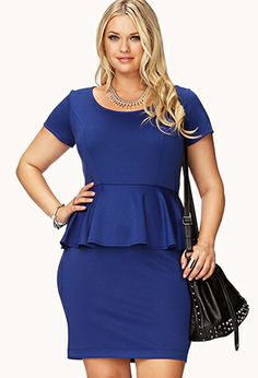 Basic Peplum Dress | FOREVER21 PLUS - 2000128659
