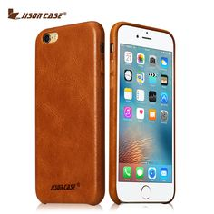 Jisoncase for iPhone 6s 6 Case Genuine Leather Fundas for iPhone 6 plus 6s plus Cover Luxury Brand Phone Bags & Cases