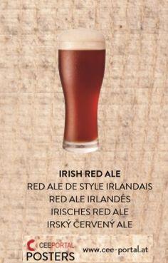 IRISH RED ALE RED ALE DE STYLE IRLANDAIS RED ALE IRLANDÉS IRISCHES RED ALE IRSKÝ ČERVENÝ ALE Ale, Irish, Tableware, Glass, Foods, Dinnerware, Irish Language, Drinkware, Ale Beer