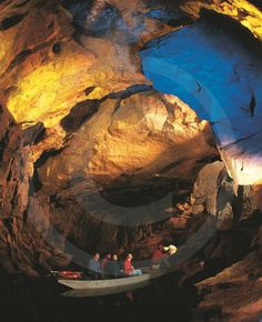 Tour of part of Marble Arch cave system, near Enniskillen, County Fermanagh.