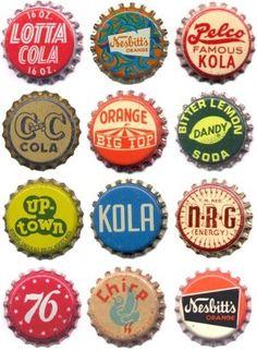 Vintage Soda Bottle Caps