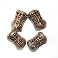 African Drum (Dondo) Mesh Brass Beads