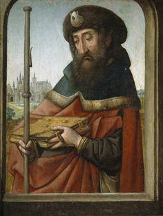 """""""Santiago Peregrino"""", Juan de Flandes (ca.1507)"""