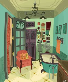 Bathroom! by Ally Albon | Whimsical | 3D | CGSociety