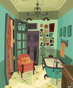 Bathroom! by Ally Albon | Whimsical | 3D | CGSociety