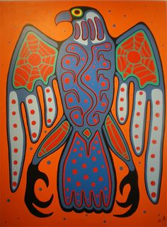 Canadian First Nations Art, Greenery Gallery Vancouver BC. First Nations Ojibway Woodland Art in the style of Norval Morrisseau by Jim Oskineegish. Shaman Ojibwe Artist of the Contemporary Woodland Art Movement Indian Folk Art, American Indian Art, Native American Art, Arte Tribal, Tribal Art, Woodland Art, Inuit Art, Southwest Art, Canadian Art