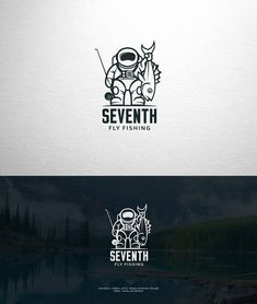 An imaginative fly fishing logo by Dima Che