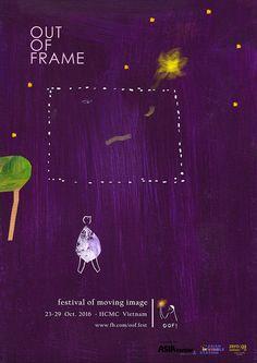 OOF! Festival of moving image -poster design by Vicky Alvarez Illustration