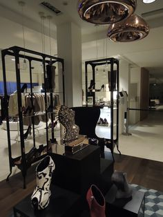 Tom Dixon Void Light + Wingback Chair - Giuseppe Zanotti - Le Bon Marché Rive Gauche - Paris