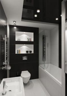 Fekete-fehér fürdőszoba berendezés és burkolat ötletek - egy népszerű színpárosítás