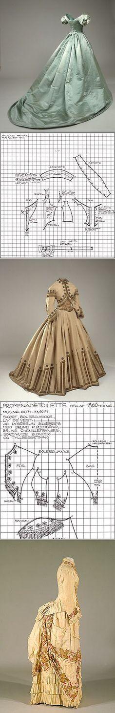 Старинные платья и костюмы с выкройками.