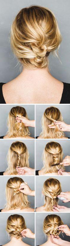 Holiday Hair Tutorial: An Easy Short Hair Updo