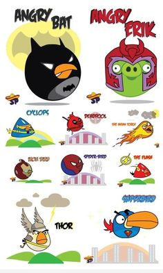 Angry Birds become Super Heroes. I love Thor and Angry Bat.