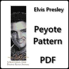 Elvis Presley peyote pattern beading bracelet door BeadingPattern
