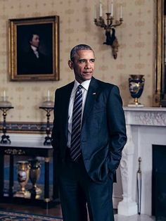 The Picture that inspired the painting.... The 44th President of the United States Barack Obama.