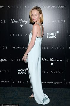 Kate Bosworth in Oscar de la Renta dress, Jimmy Choo shoes - Screening of 'Still Alice' in New York City.  (January 13, 2015)