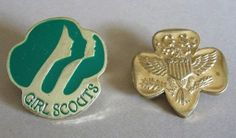 Vintage GIRL SCOUT Troop PINS For Uniform Circa 1980s