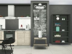 The Sims Resource: Actinium Kitchen Accessories • Sims 4 Downloads