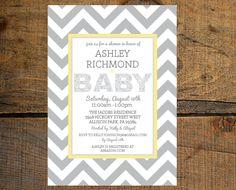 Chevron Baby Shower Invitation Digital FIle. $13.50, via Etsy.