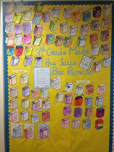 Juice Box Bully bulletin board #elementaryschoolcounseling