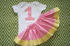 Girls First Birthday Outfit