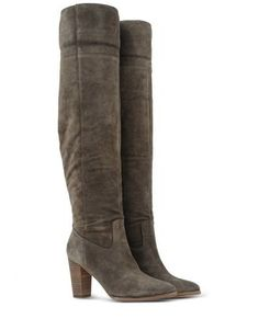 Shoescribe Belle Seigerson Grey over the Knee boots